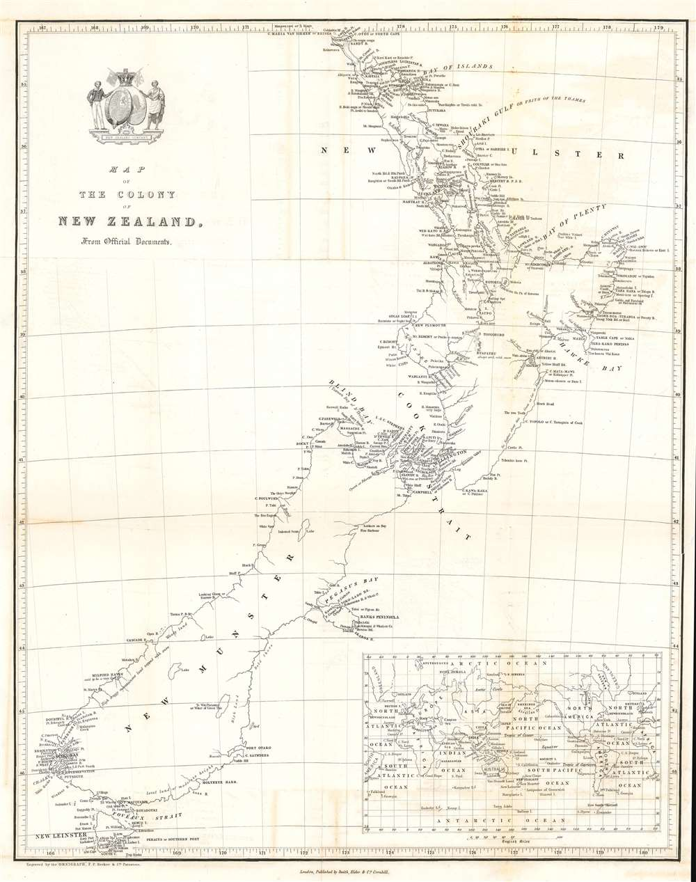 Map of the Colony of New Zealand from Official Documents. - Main View