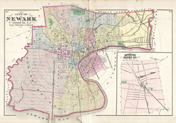 City Of Newark Essex Co NJ Geographicus Rare Antique Maps
