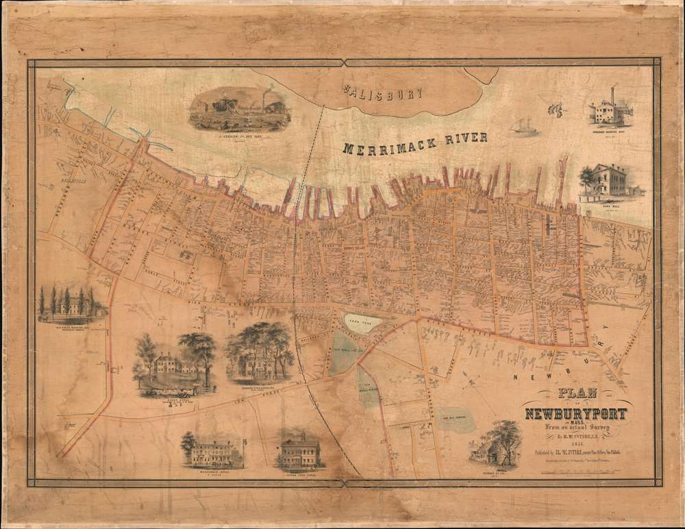 Plan of Newburyport, Mass. From an actual Survey by H. McIntyre C.E. 1851