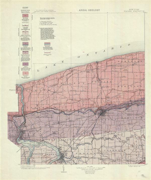 New York.  Niagara Quadrangle.  Areal Geology. - Main View