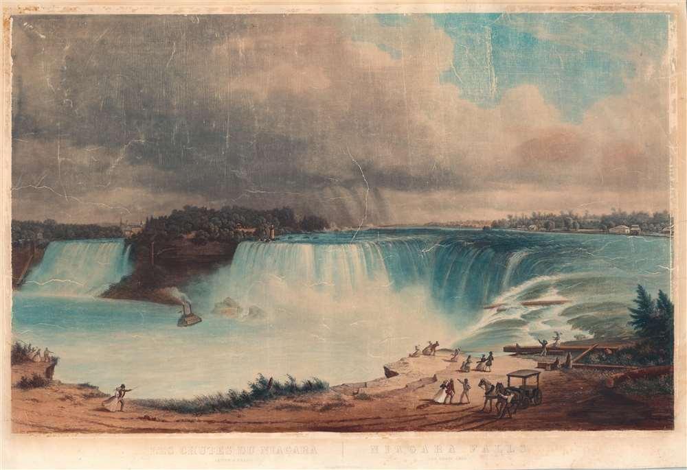 Les Chutes du Niagara. Fer a Cheval / Niagara Falls. The Horseshoe.