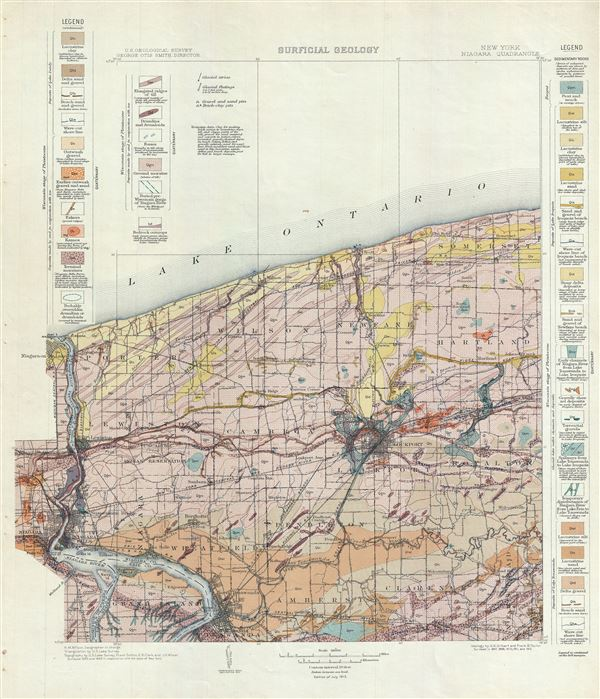 New York.  Niagara Quadrangle.  Surficial Geology.