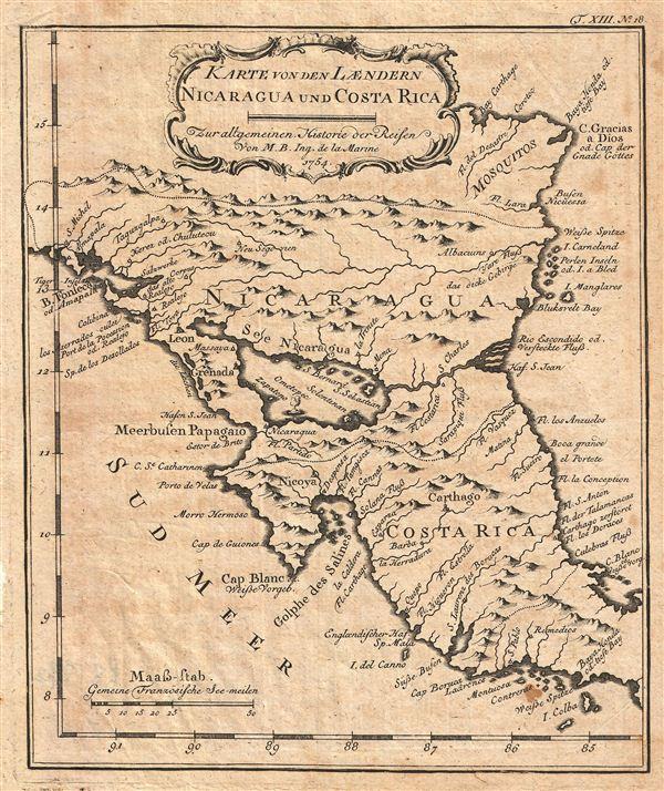 karte von costa rica Karte Von Den Laendern Nicaragua un Costa Rica Lur Allgemeinen