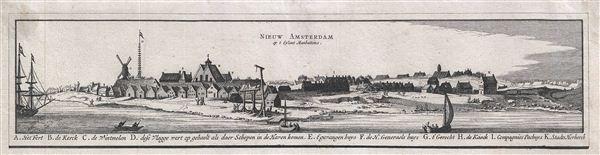 Nieuw Amsterdam op t Eylant Manhattans.