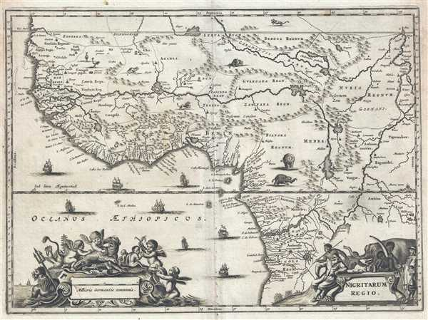 1686 Dapper Map of West and Central Africa