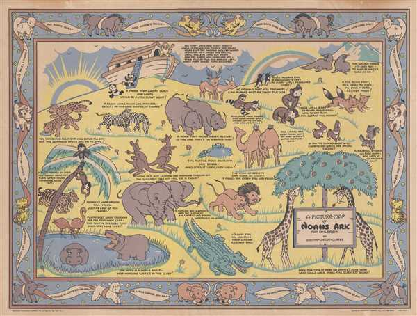 A Picture Map of Noah's Ark for Children. - Main View