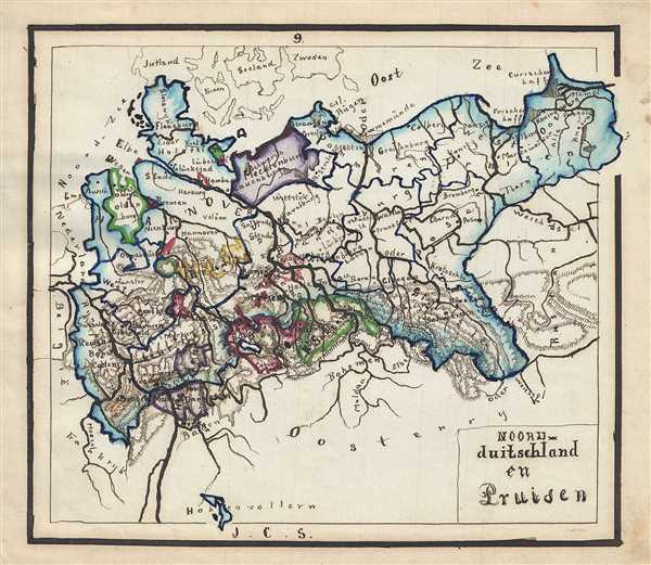 Map Of Germany 1871.Noord Duitschland En Pruisen Geographicus Rare Antique Maps