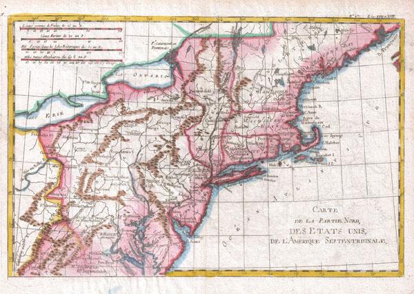 Carte De La Partie Nord Des Etats Unis - Main View
