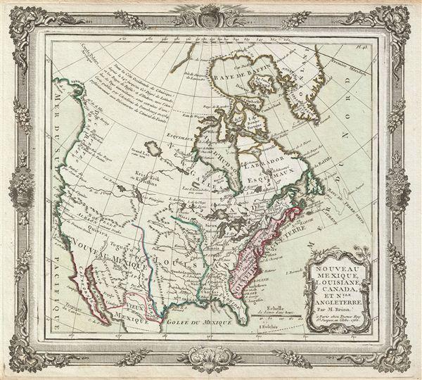 Nouveau Mexique, Louisiane, Canada, et Nlle. Angleterre.
