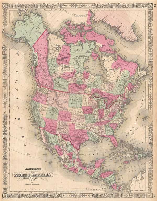 Johnson\'s North America.: Geographicus Rare Antique Maps