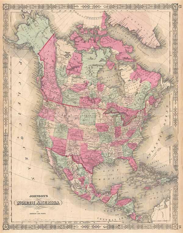 Johnson\'s North America.: Geographicus Rare Antique Maps