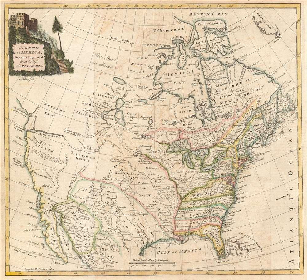 1770 Kitchin Map of North America
