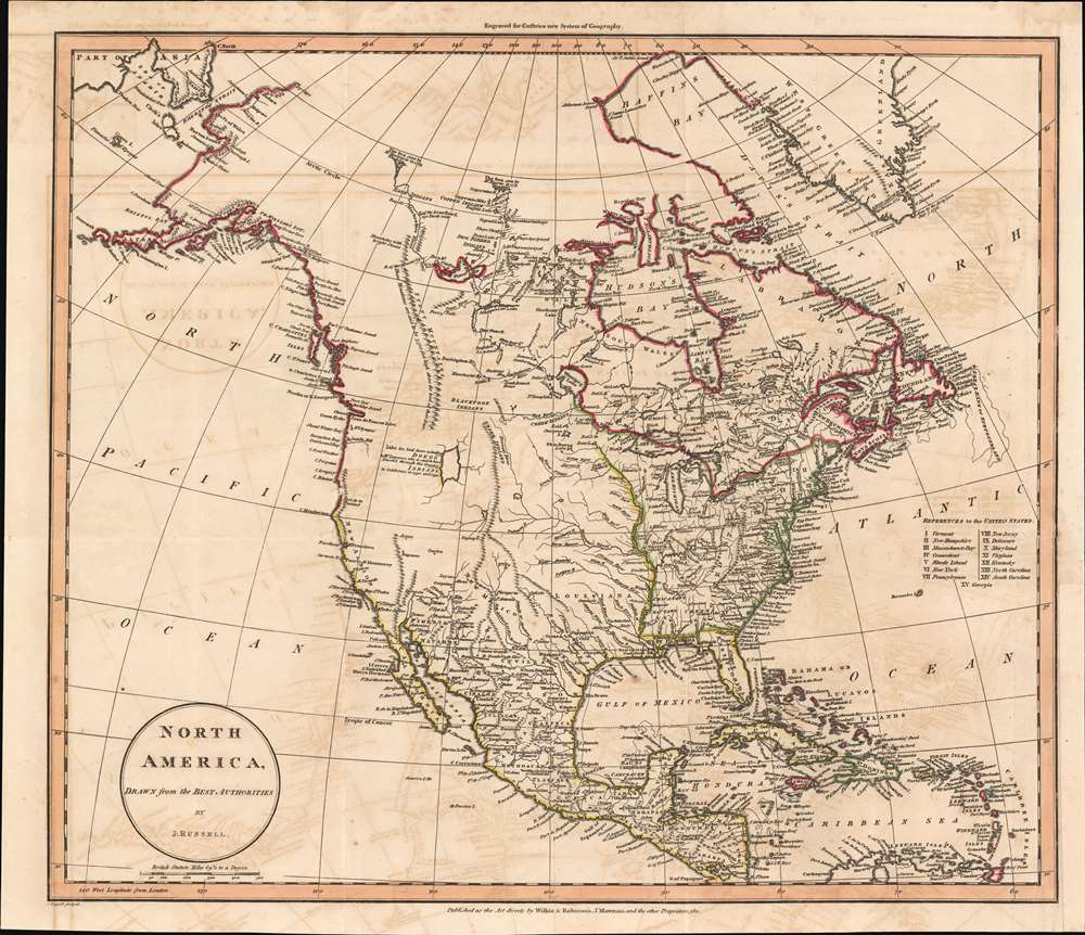 North America, Drawn from the Best Authorities by J. Russell. - Main View