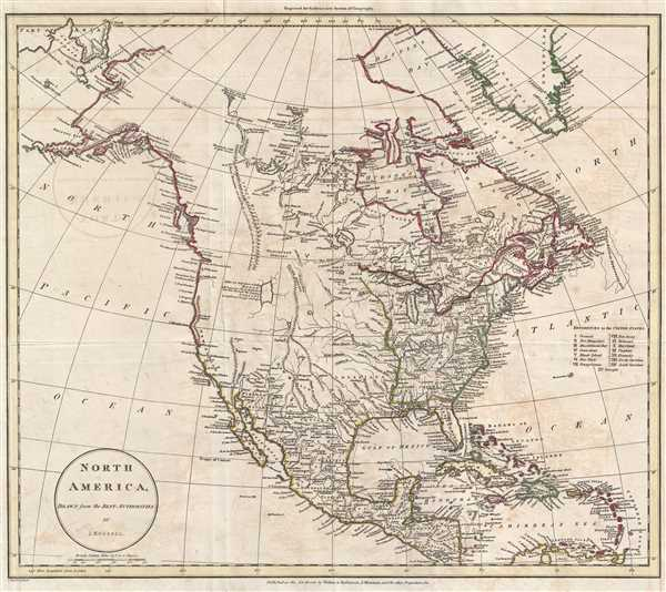 1811 Russell Map of North America
