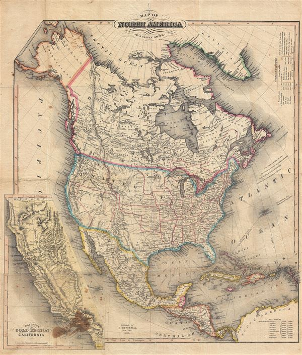 Map of North America by J. Calvin Smith.