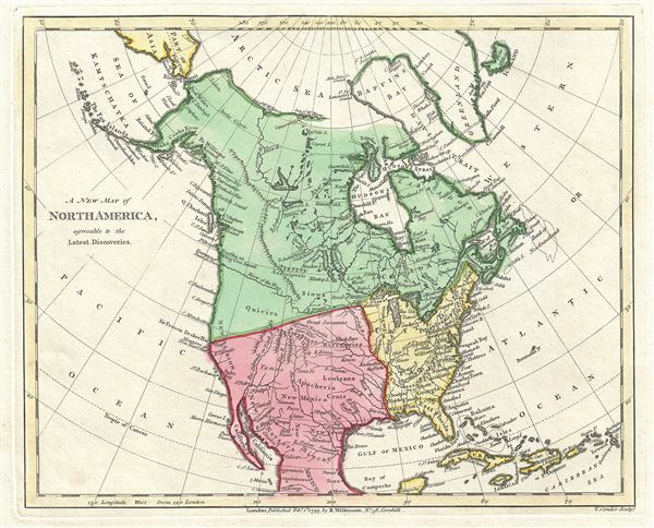 A New Map Of North America Agreeable To The Latest Discoveries
