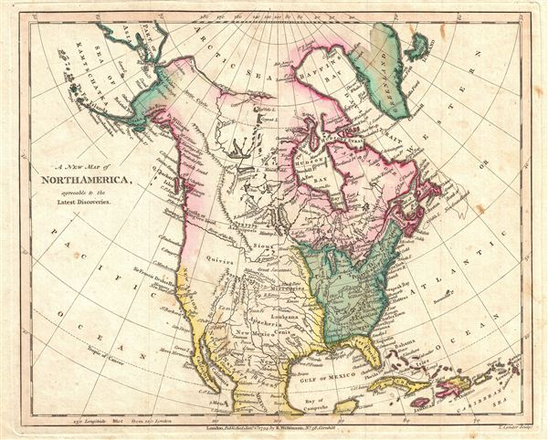 A New Map of North America, agreeable to the Latest Discoveries.