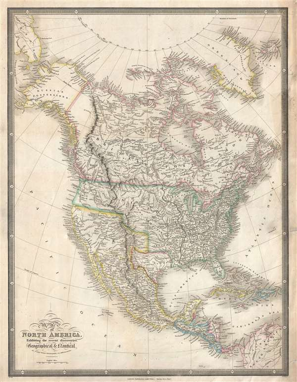 Map of North America, Exhibiting the recent discoveries.  Geographical and Nautical.