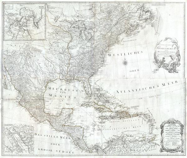 General Karte von Nord America samt den Westindischen Inseln Verfasst von Herrn Pownall - Main View
