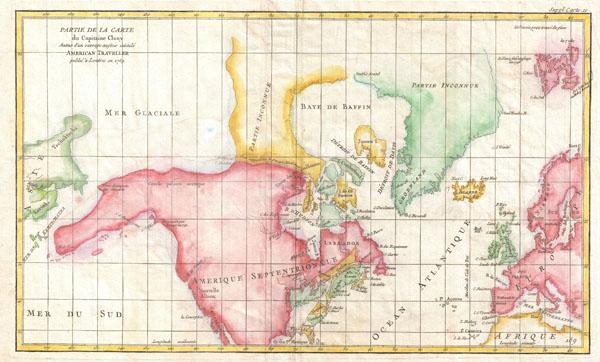 Partie de la Carte du Capitaine Cluny Auteur d'une ouverage anglois intitule American Traveller publie a Londres en 1769.