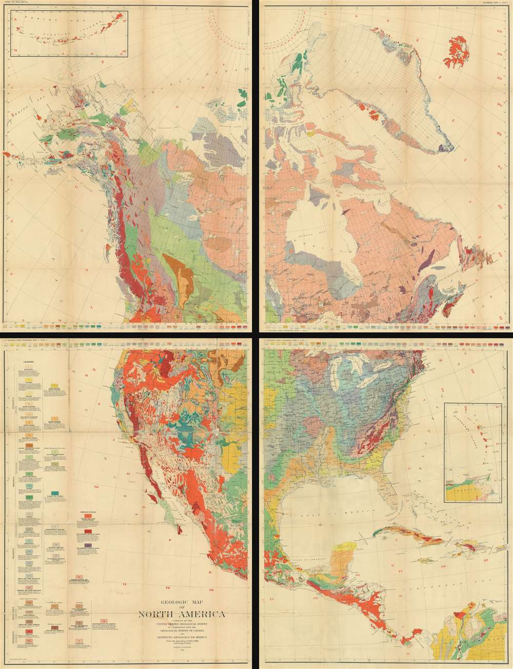 Geologic Map or North America. - Main View