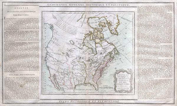 Nouveau Mexique, Louisiane, Canada, et les Etats Unis.