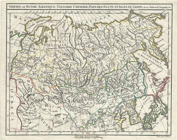 Siberie ou Russie Asiatique, Tartarie Chinoise, Pays des Eluts et Isles du Japon. - Main View