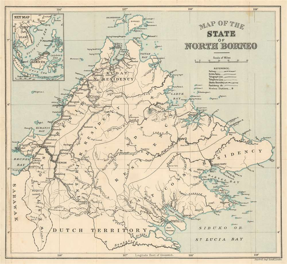 Map of the State of North Borneo.
