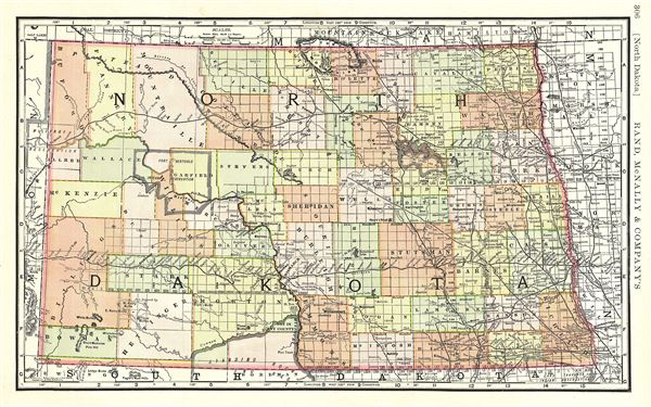 North Dakota Geographicus Rare Antique Maps - Maps of north dakota