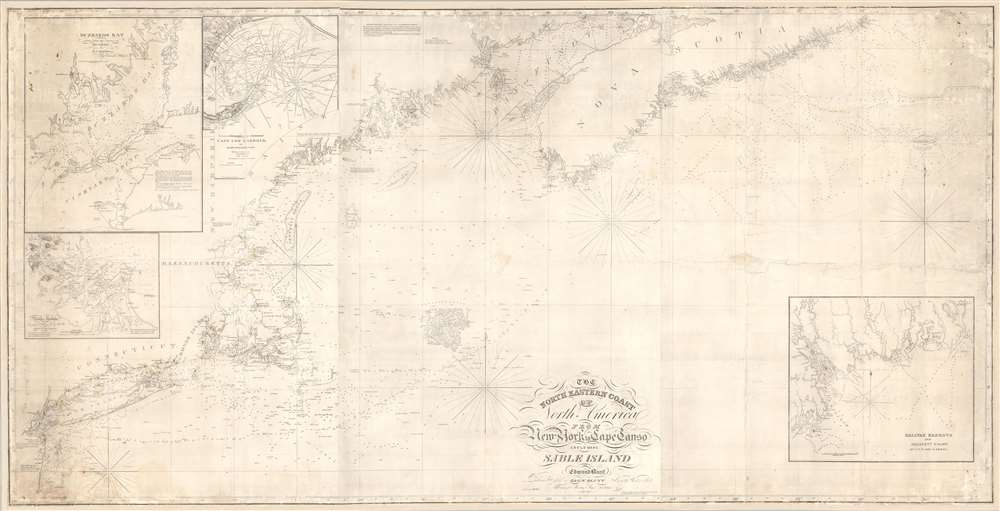 The north eastern coast of North America from New York to Cape Canso, including Sable Island. - Main View