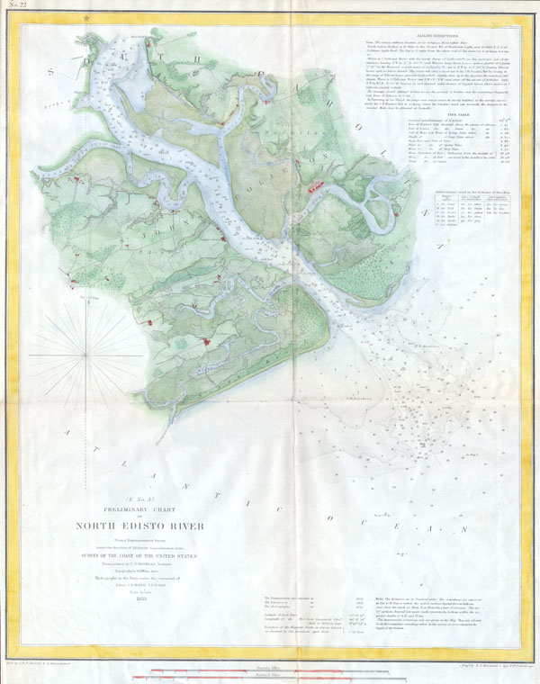 (E  No. 3) Preliminary Chart of North Edisto River. - Main View