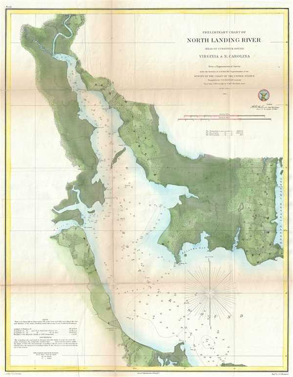 Preliminary Chart of North Landing River (Head of Currituck Sound) Virginia and N. Carolina