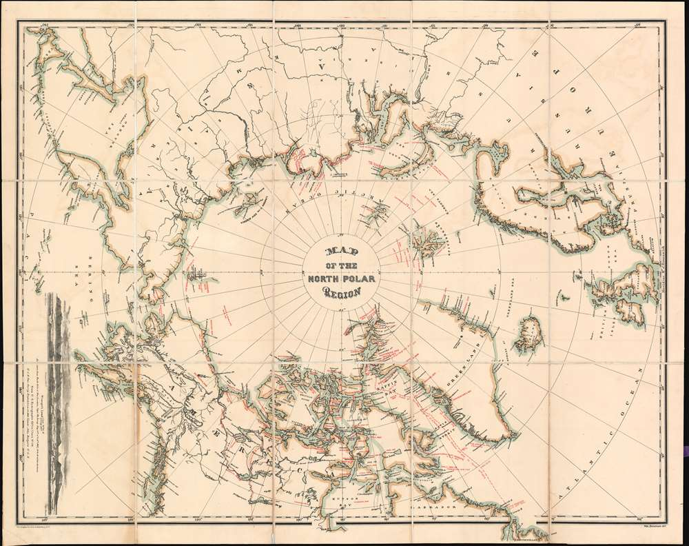 Map of the North Polar Region. - Main View