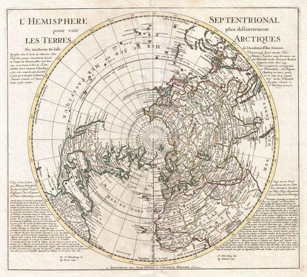 L'Hemisphere Septentrional pour voir pllus distinctement Les Terre Arctiques.