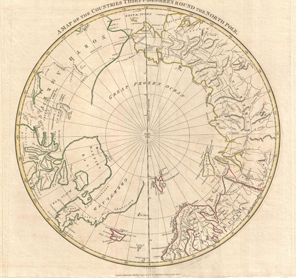 A Map of the Countries Thirty Degress Round the North Pole. - Main View