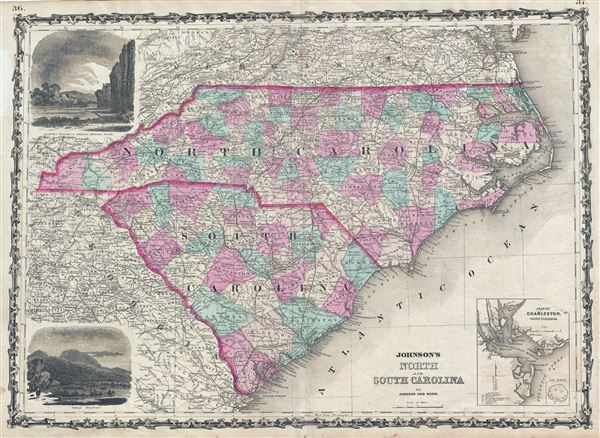 Johnson's North and South Carolina. - Main View