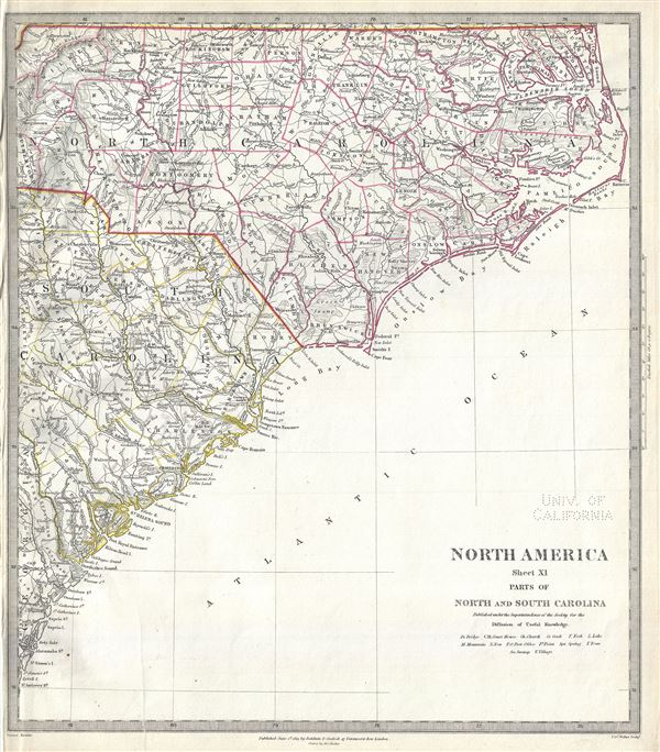North America Sheet XI North and South Carolina. - Main View