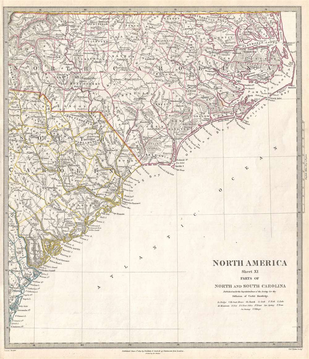 North America Sheet XI Parts of North and South Carolina. - Main View
