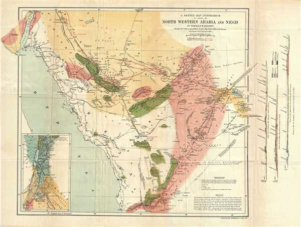 A Sketch Map Itinerarium of part of North Western Arabia and Negd.