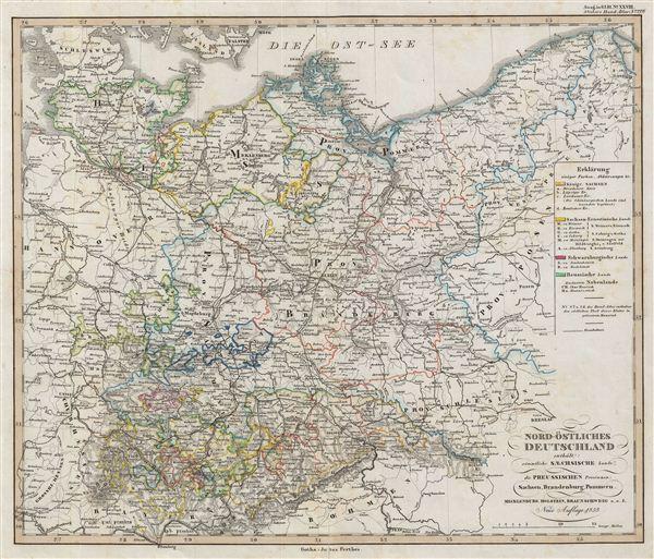 Nord-Östliches Deutschland enthält sämmtliche Saechsische lande, die Preussischen Provinzen: Sachsen, Brandenburg, Pommern.stliches deutschland enthält sämmtliche saechsische lande, die preussischen provinzen: Sachsen, Brandenburg, Pommern.