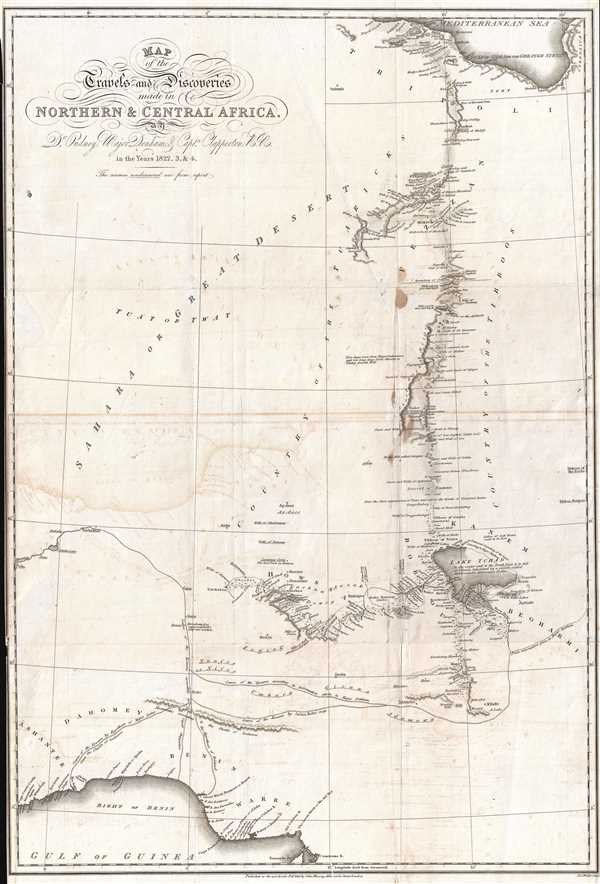 Map of the Travels and Discoveries Made in Northern and Central Africa by Dr. Oudney, Major Denham, and Capt. Clapperton, R.N.