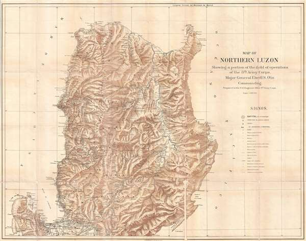 Map Of Northern Luzon Showing A Portion Of The Field Operations Of
