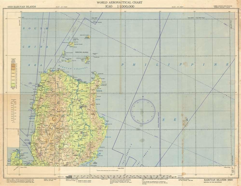 World Aeronautical Chart. Babuyan Islands. 2620. - Main View