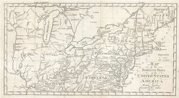Map of the Northern Pars of the United States of America. By Abraham ...