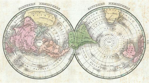 Northern Hemisphere.  Southern Hemisphere.