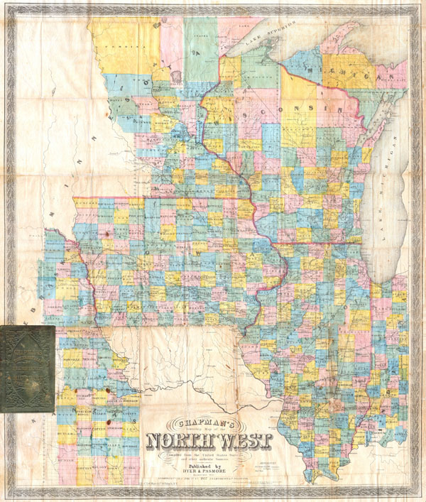 Chapman's Township Map of the Northwest Compiled from the United States Surveys and other authentic Sources. - Main View