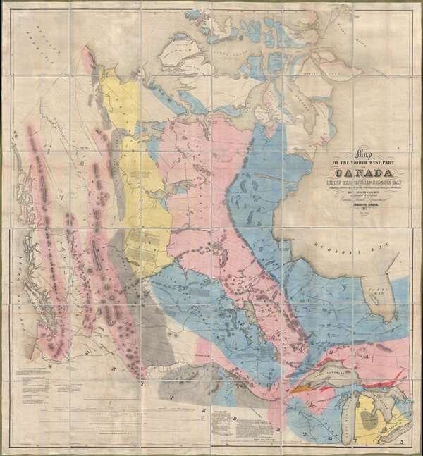 Map of the North West Part of Canada Indian Territories and Hudson's Bay.