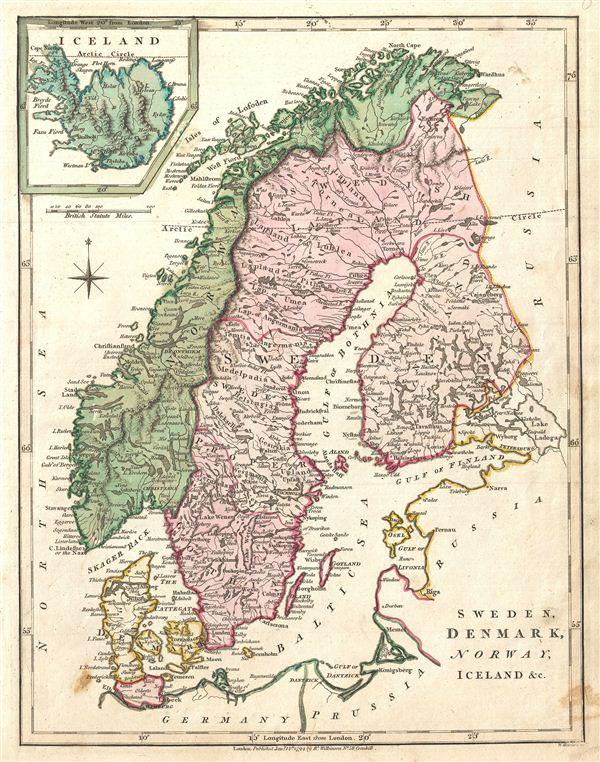 Sweden, Denmark, Norway, Iceland &c.