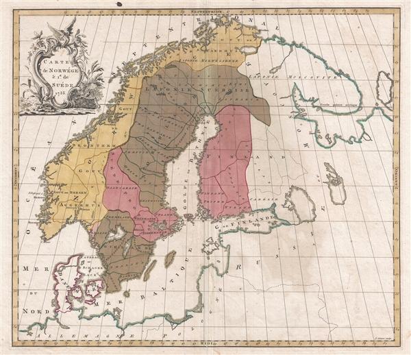 Carte de Norwége & 1e. de Suéde.