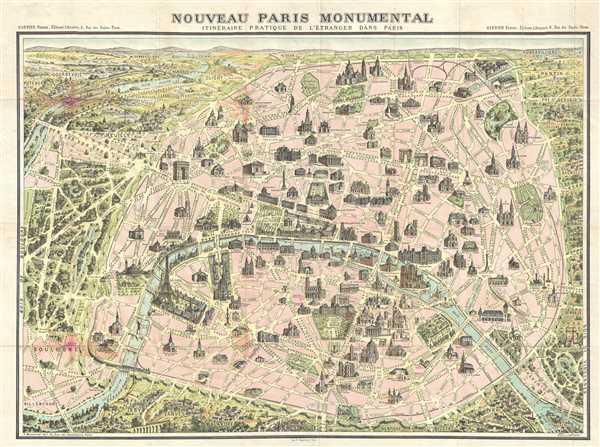 Nouveau Paris Monumental. Itinéraire Pratique de l'Étranger dand Paris.